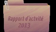 Rapport d'actvité 2013